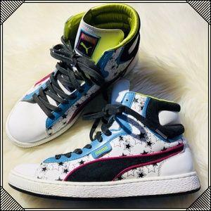 * Puma High Top Sneakers * Retro Star Shoes *